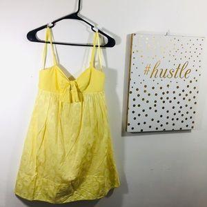 BCBGMaxazria Yellow Sun Dress